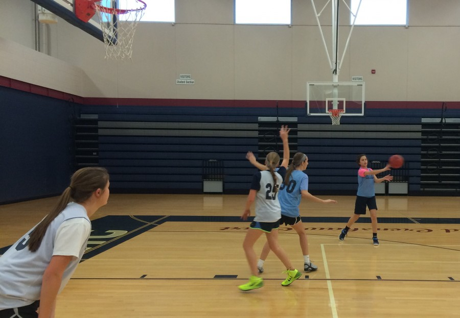 With only eight players, there is much to do in practice.
