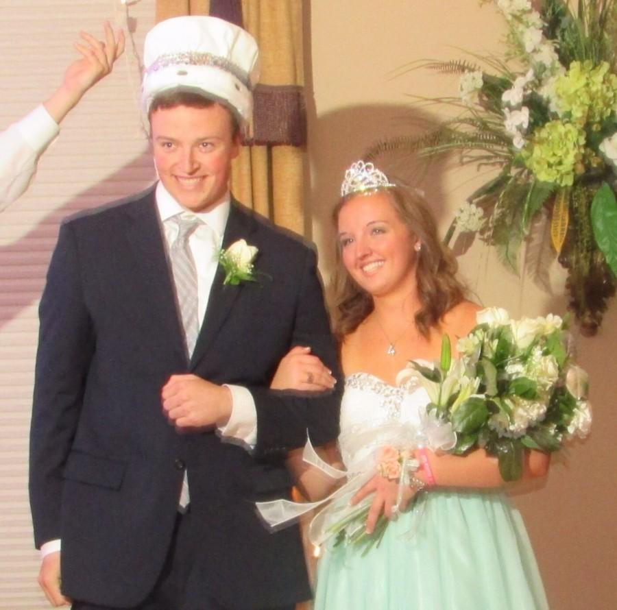 Prom King and Queen Chris Schneider and Ally Dolson.