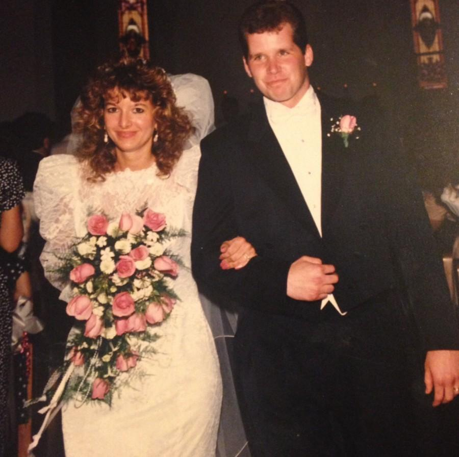 The Rothermich's on their wedding day.