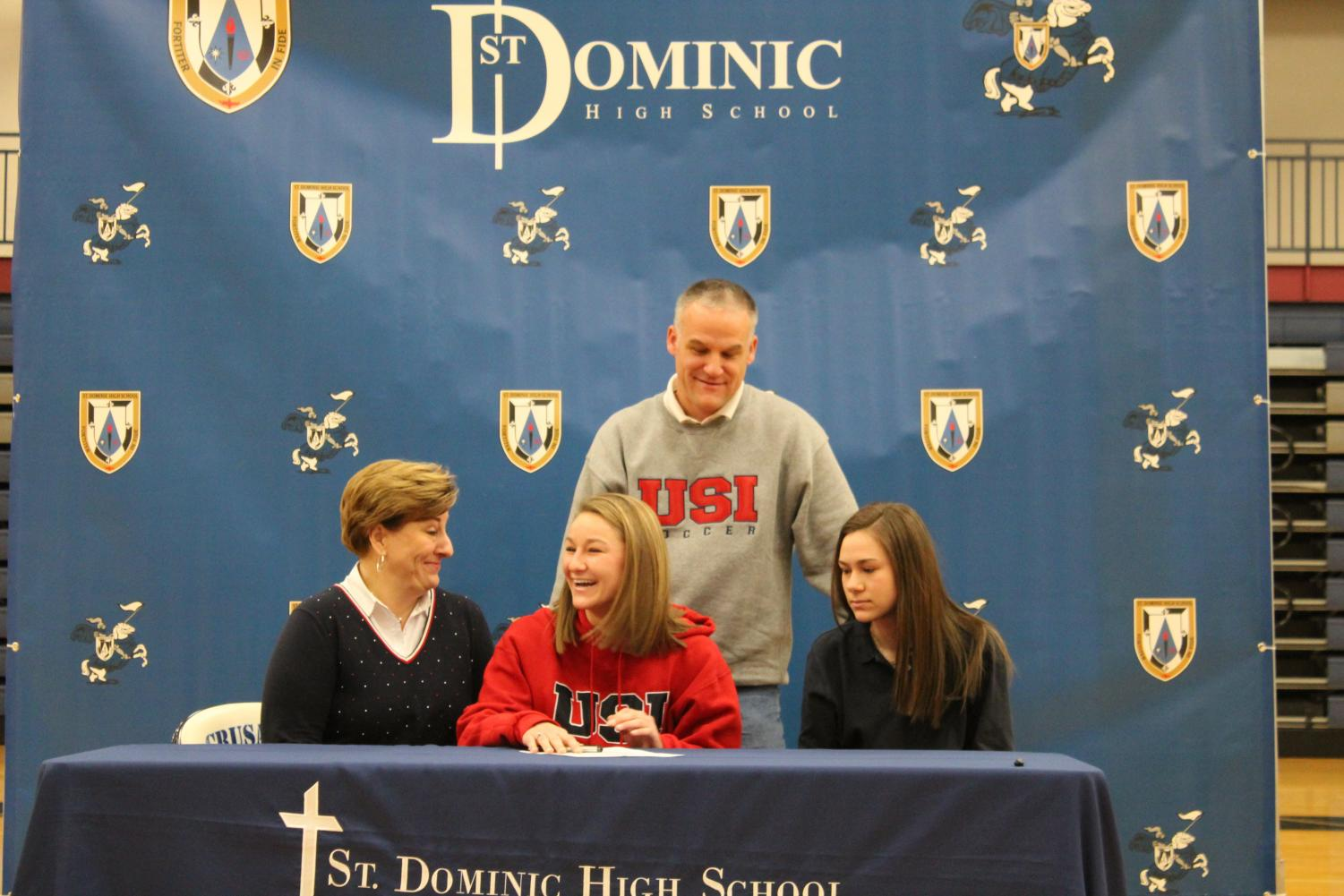 Senior Madeline Weston signing to Southern Indiana.