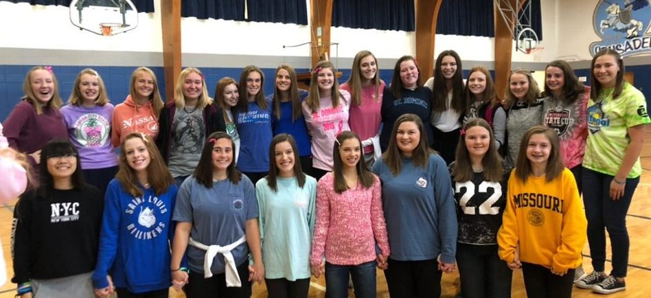 The awesome girls who donated their hair!