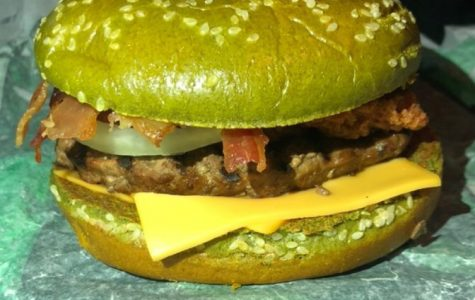 The all new Nightmare Burger at Burger King.