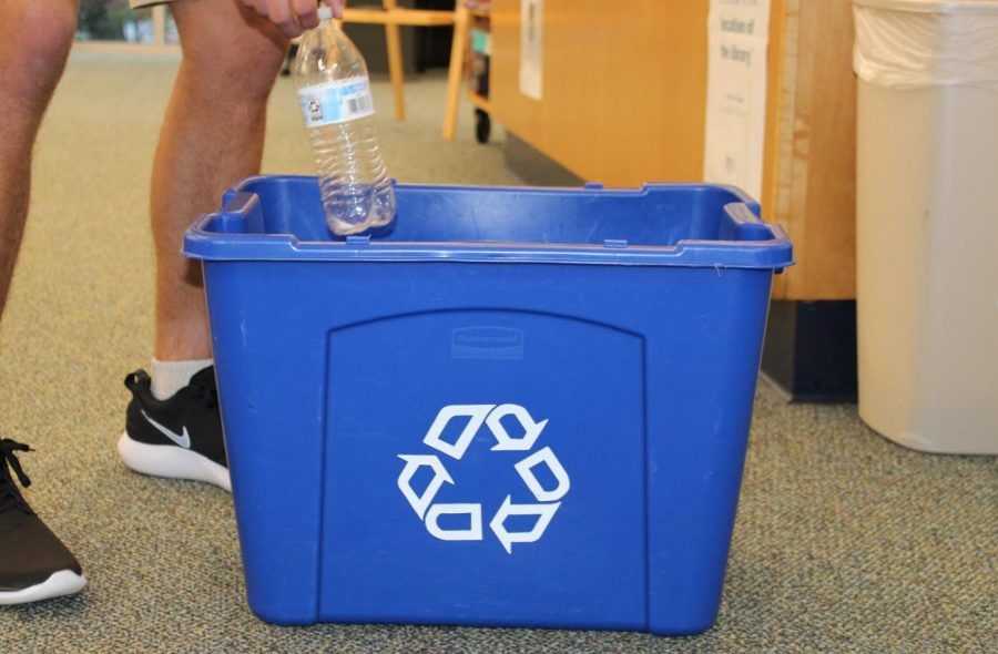 St. Dominic student recycling