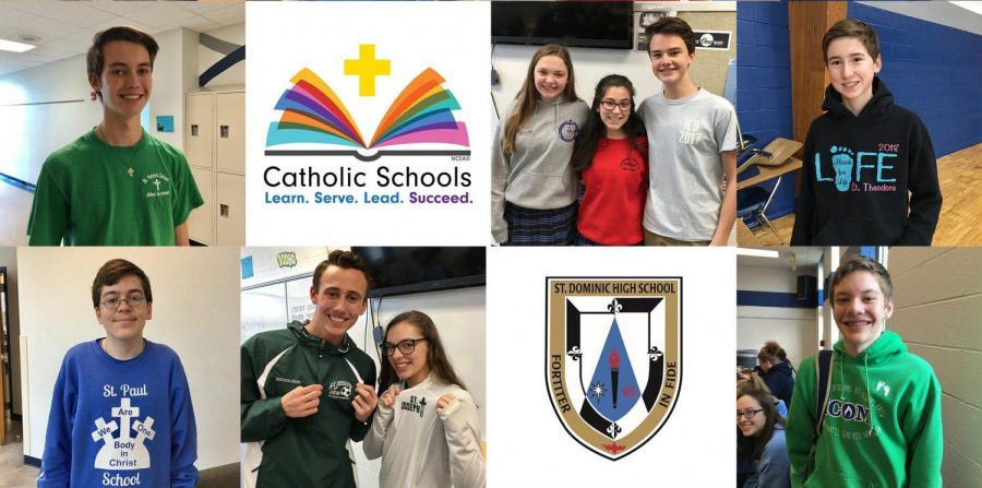 Students enjoying the first day of Catholic Schools Week.