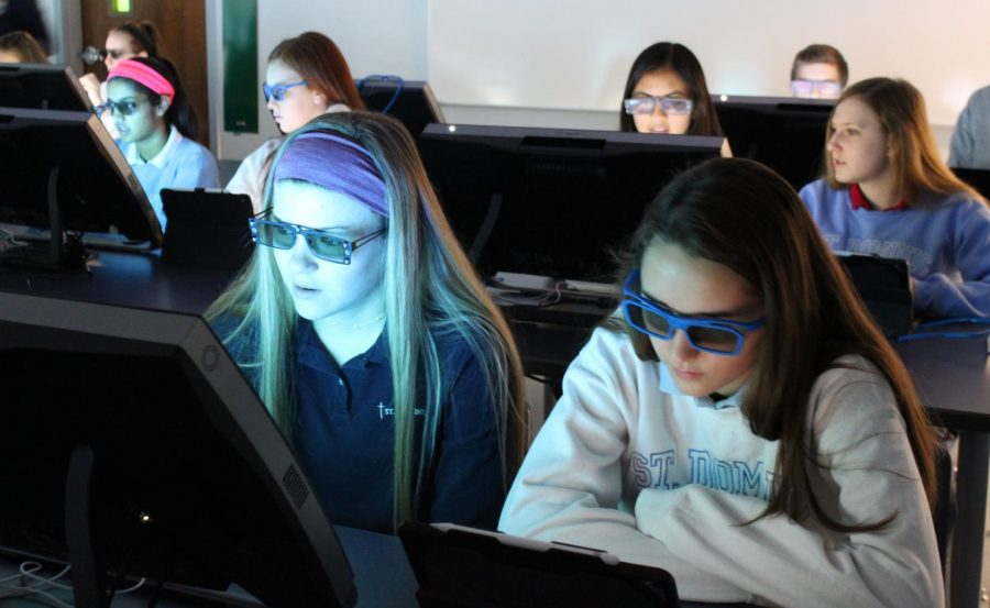 Students using the brand new zSpace