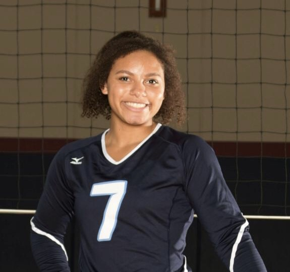 Single Senior Leads Girl's Volleyball