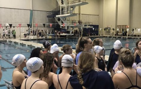 Lady Crusaders compete at the FZN annual Invitational swim meet at the Rec Plex this past Saturday.