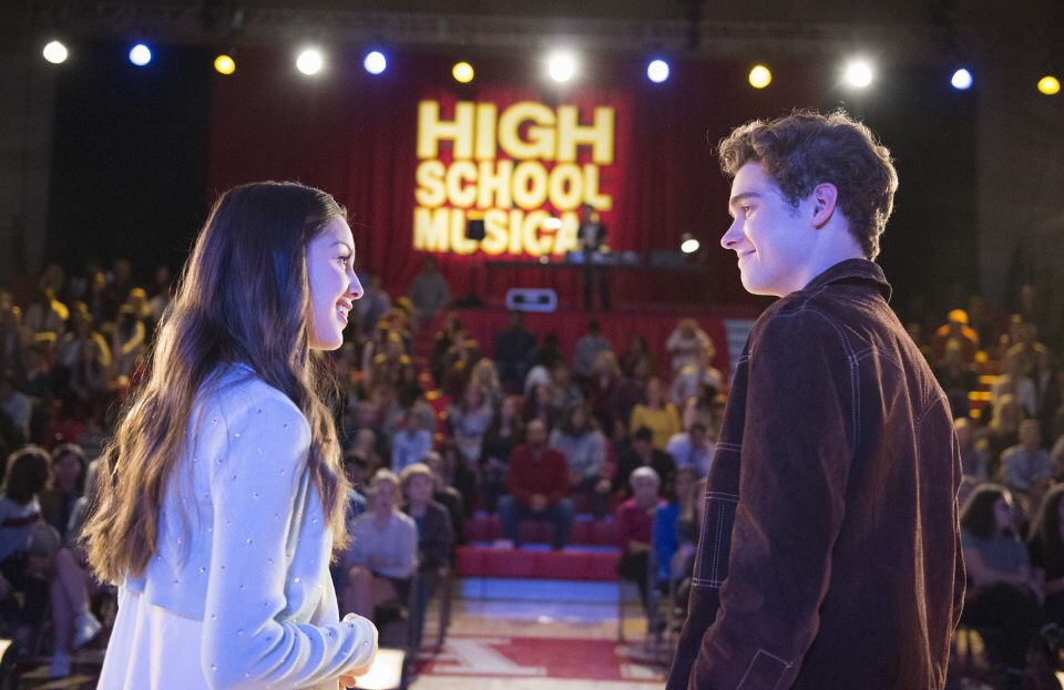 Ricky and Nini perform a scene in their school's production of High School Musical