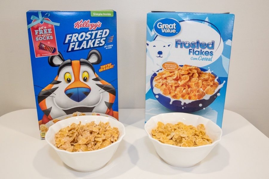 Kellogg%E2%80%99s+Frosted+Flakes+are+%241.00+more+than+Walmart%E2%80%99s+Great+Value+brand+and+there%E2%80%99s+barely+a+difference+in+taste.