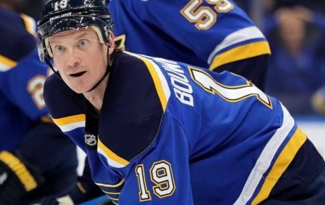 Jay Bouwmeester is back in St. Louis and on the road to recovery