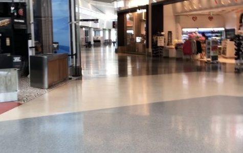 The middle of LAX Airport on a Thursday afternoon during the Coronavirus pandemic.