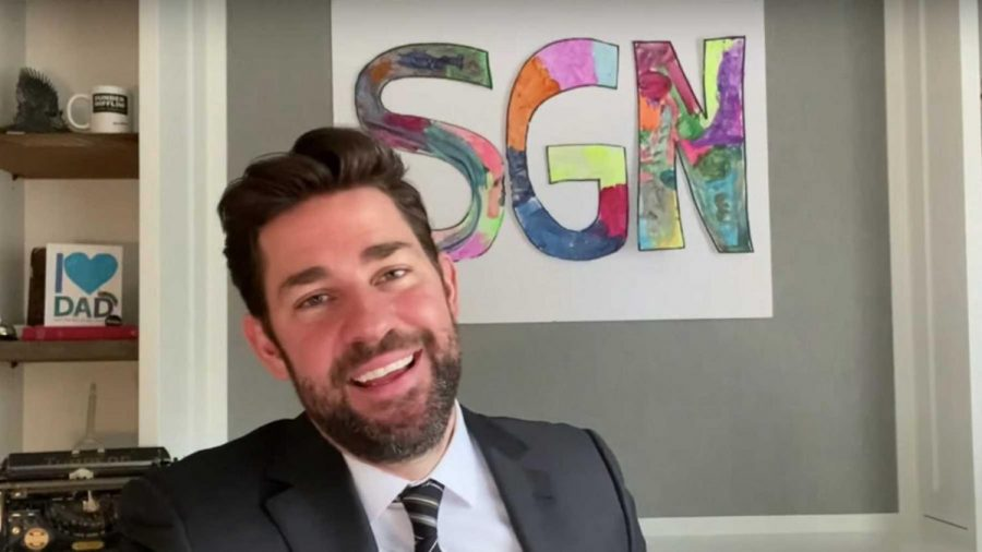 John Krasinski made it his mission to put a smile on everyone's face.