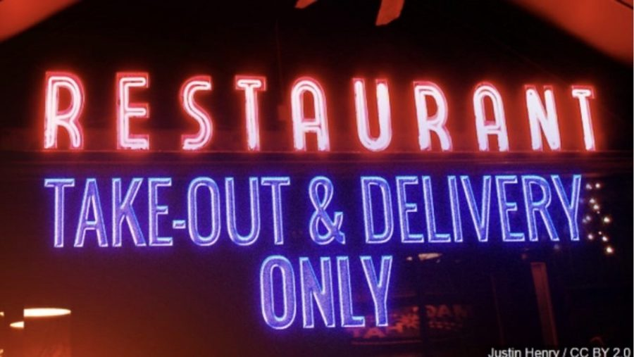 Since there isn't a dine-in option, many have been taking advantage of takeout delivery options