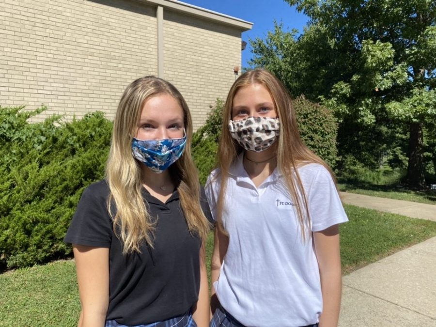 As St. Dominic goes back to school girls begin to assemble fashion into the new ways of mask life.