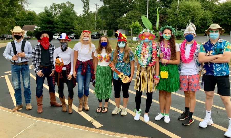 Fellow Crusaders showed their pride with their best winning costumes for homecoming spirit week