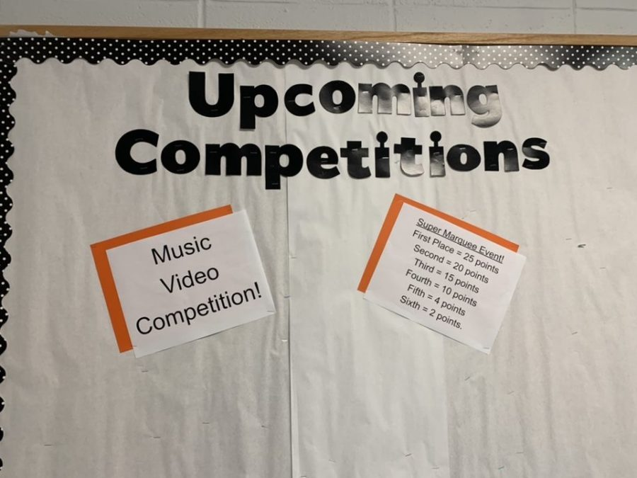 The music video competition has high stakes between the house points