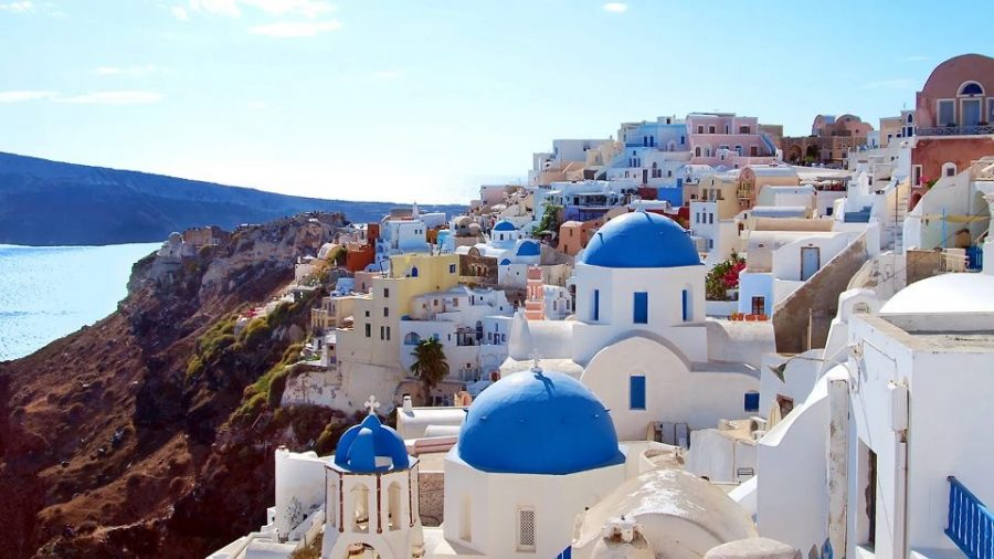 The+view+of+the+beautiful+Santorini+Greece%2C+a+dream+come+true.