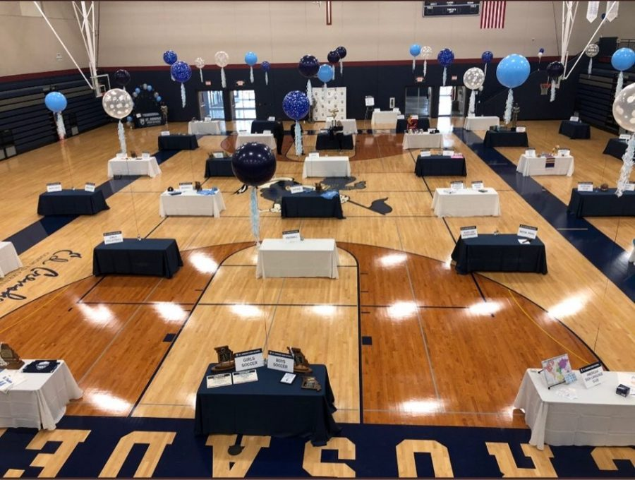 The Big Gym is all set up for open house