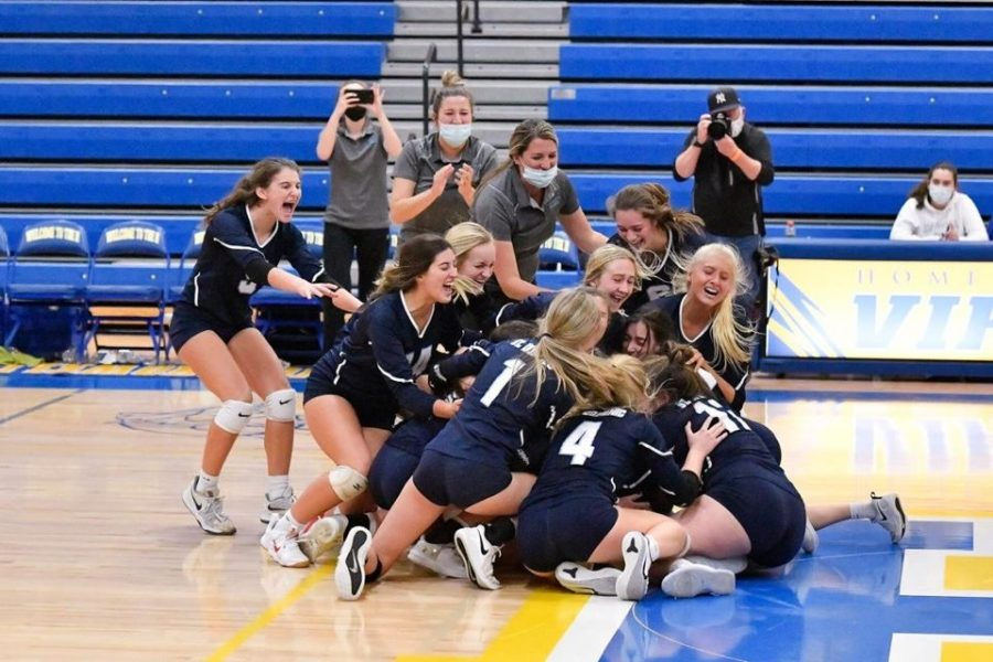 The varsity volleyball team has punched their ticket to state.