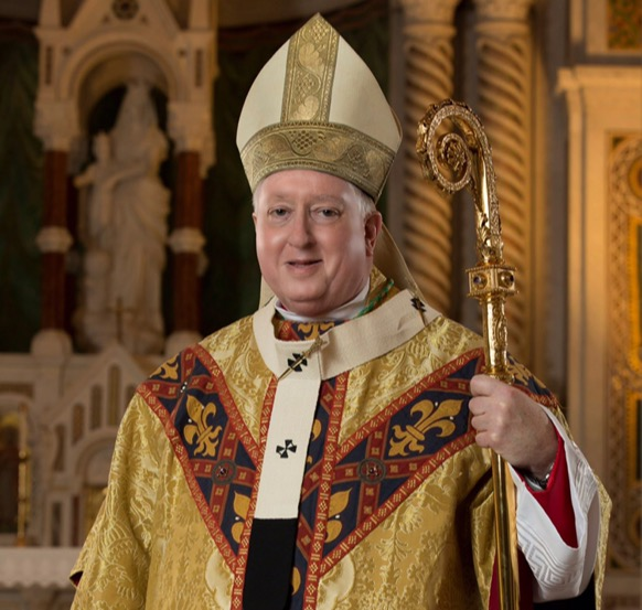 New Archbishop Mitchell Rozanski will be visiting St. Dominic for the first time on Tuesday to celebrate the annual Thanksgiving mass.