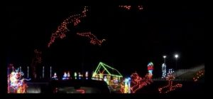 At the Lot of Lights display at the family arena, you can look at over a mile of beautiful lights all from the safety of your own car