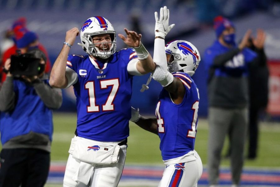 Bills Quarterback Josh Allen and receiver  Stephon Diggs prepare to play against the Kansas City Chiefs on Championship Sunday.