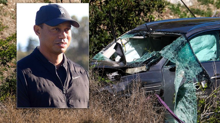 Tiger Woods sustains major leg injury after car accident Tuesday morning.