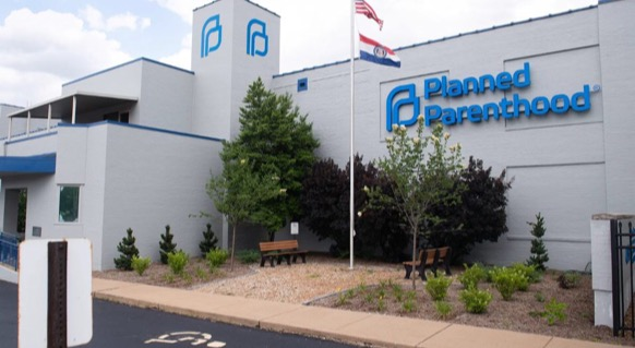 The outside of the last Planned Parenthood facility in Missouri.