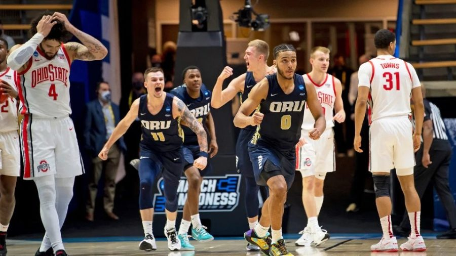 No. 15 Oral Roberts punches their ticket to the Sweet Sixteen after defeating No. 2 Ohio State.
