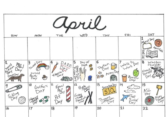 The month Of April consists of some of the most absurd and ridiculous  national days to celebrate.