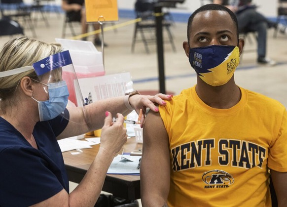 Most colleges are requiring students to be vaccinated in order to stay in their dorms.