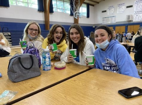 Students enjoy Kona Ice during lunch in honor of Celebrate St. Dominic Day.