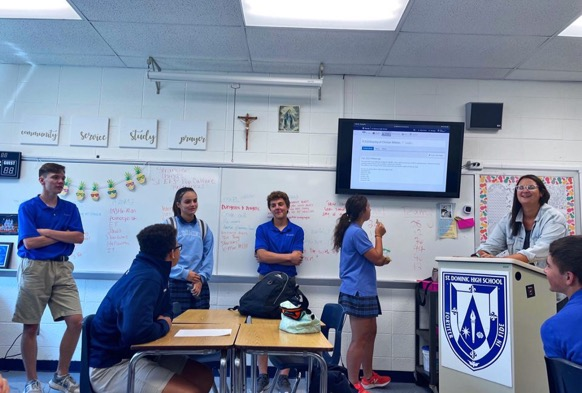 The leadership team of the Fellowship of Christian Athletes hosts their first meeting