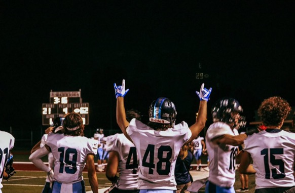 The St. Dominic football team sets a school record for scoring the most points in a single game against St. Charles West on Friday