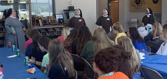 The luncheon with four visiting nuns was an enlightening and spiritual experience for all the ladies there