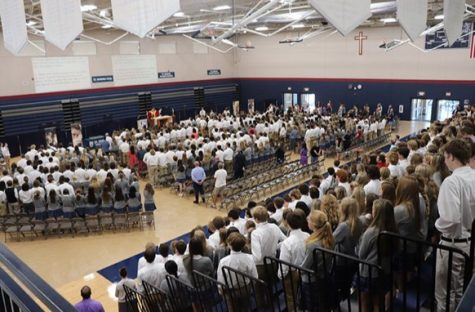 Our first all-school mass allowed for the entire St. Dominic community to come together and celebrate Christ