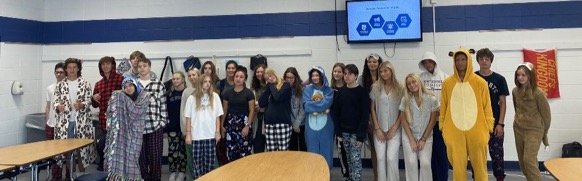 Comfy day was a great start to our Crusader Spirit week!
