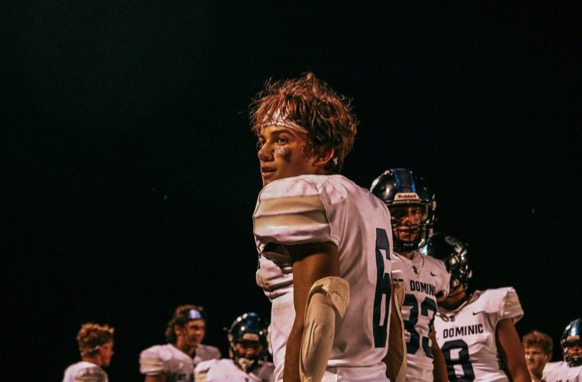 Jackson Overton at last Friday's record-breaking game